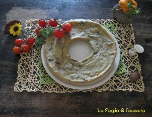 Ciambellone rustico con melanzane e formaggio