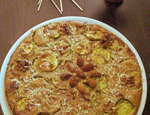 Cake con zucchine e frutta secca