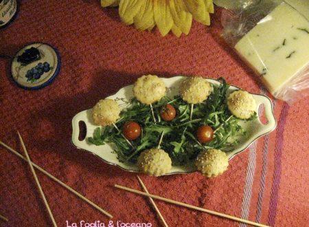 Pops pie ripieni di emmentaler e marmellata ai frutti di bosco