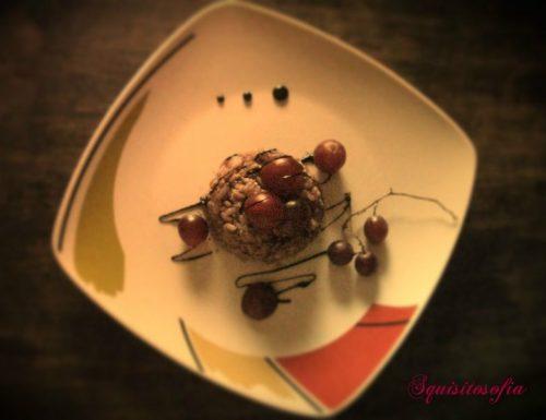 Risotto all'uva nera