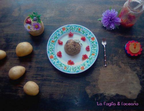 Budini salati di patate e melanzane