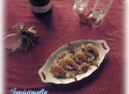 Cous cous con gamberi alla vesuviana