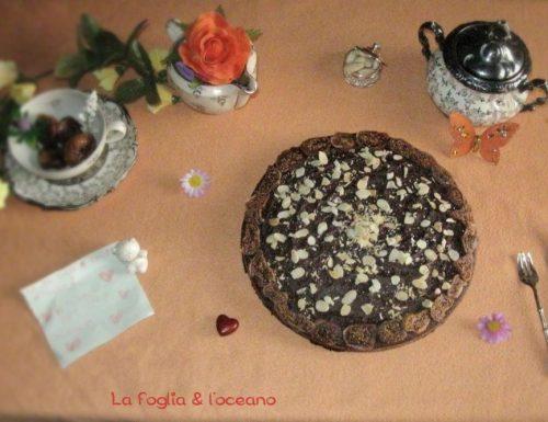 Torta al cacao con fichi secchi e pere