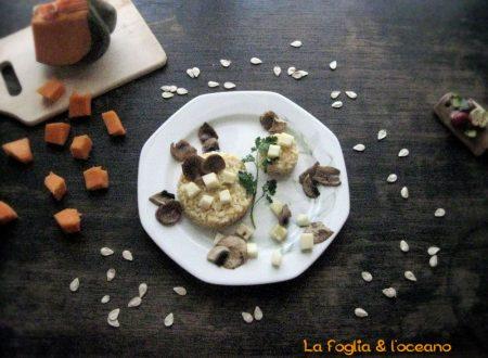 Risotto con zucca e champignon