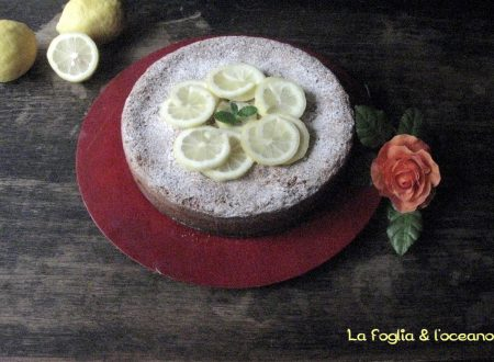 Torta caprese al cioccolato bianco e limoncello