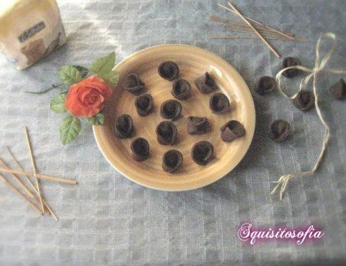 Cappellaci al cacao ripieni di mousse di bresaola