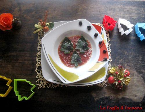 Alberelli di ravioli con salsa ai porri