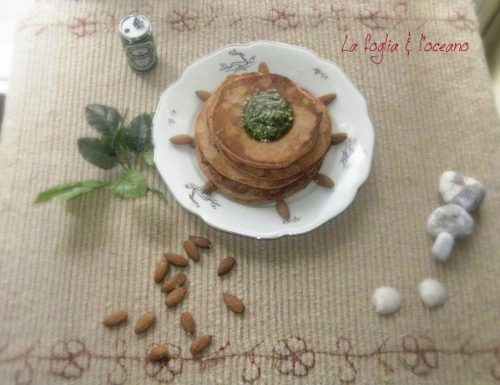 Blinis al pomodoro senza glutine con pesto alla genovese