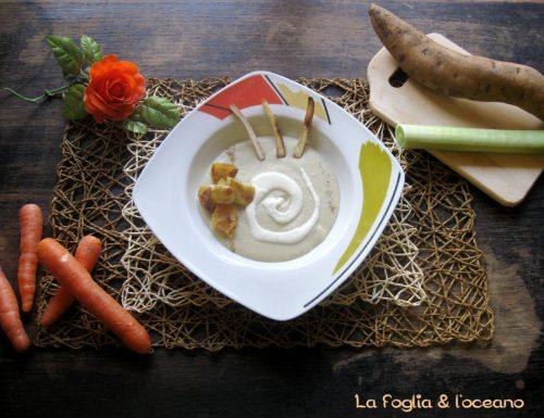 Potage Parmentier di patate dolci