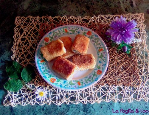 Paccheri fritti ripieni di ricotta e funghi